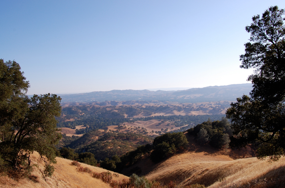 View from Artist Point on Mt. Diablo State Park.