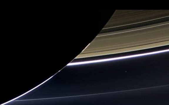 Earth as seen from Saturn
