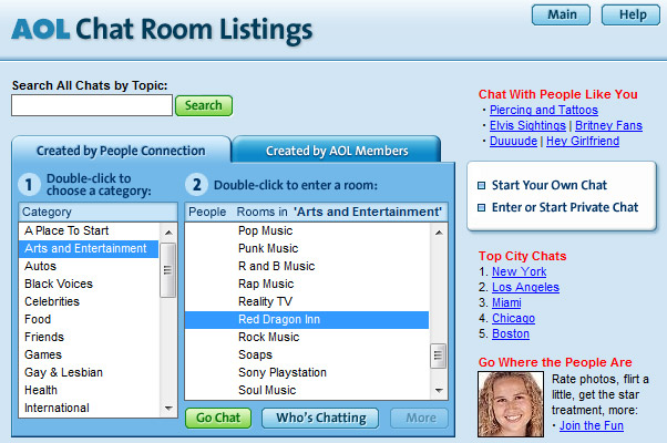 aol chatrooms
