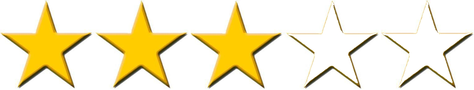 Image result for 3 stars out of 5